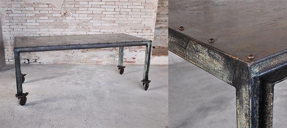 un bellissimo tavolo interamente in ferro, realizzato su misura. la ...