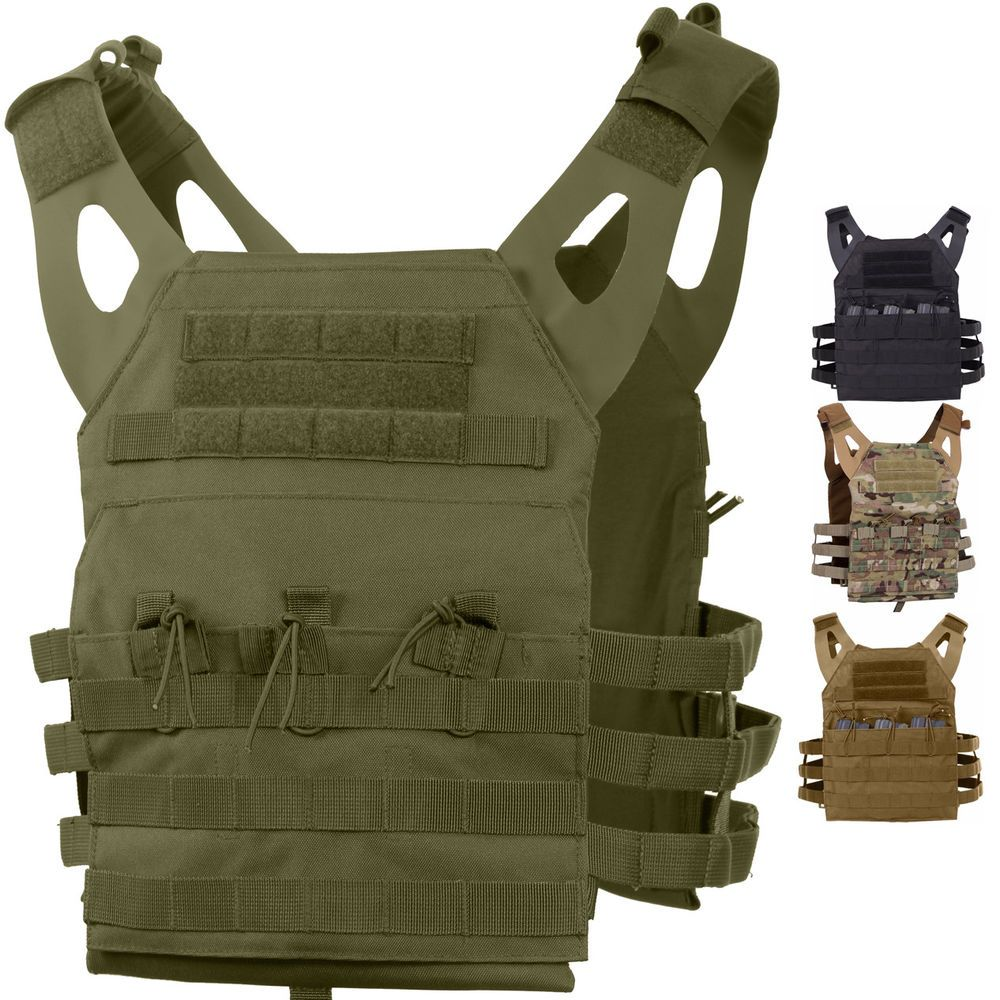 Tactical Plate Carrier Vest - Military Army MOLLE Lightweight Mag System  Assault  Rothco  Vest 5ac8cbf52a4