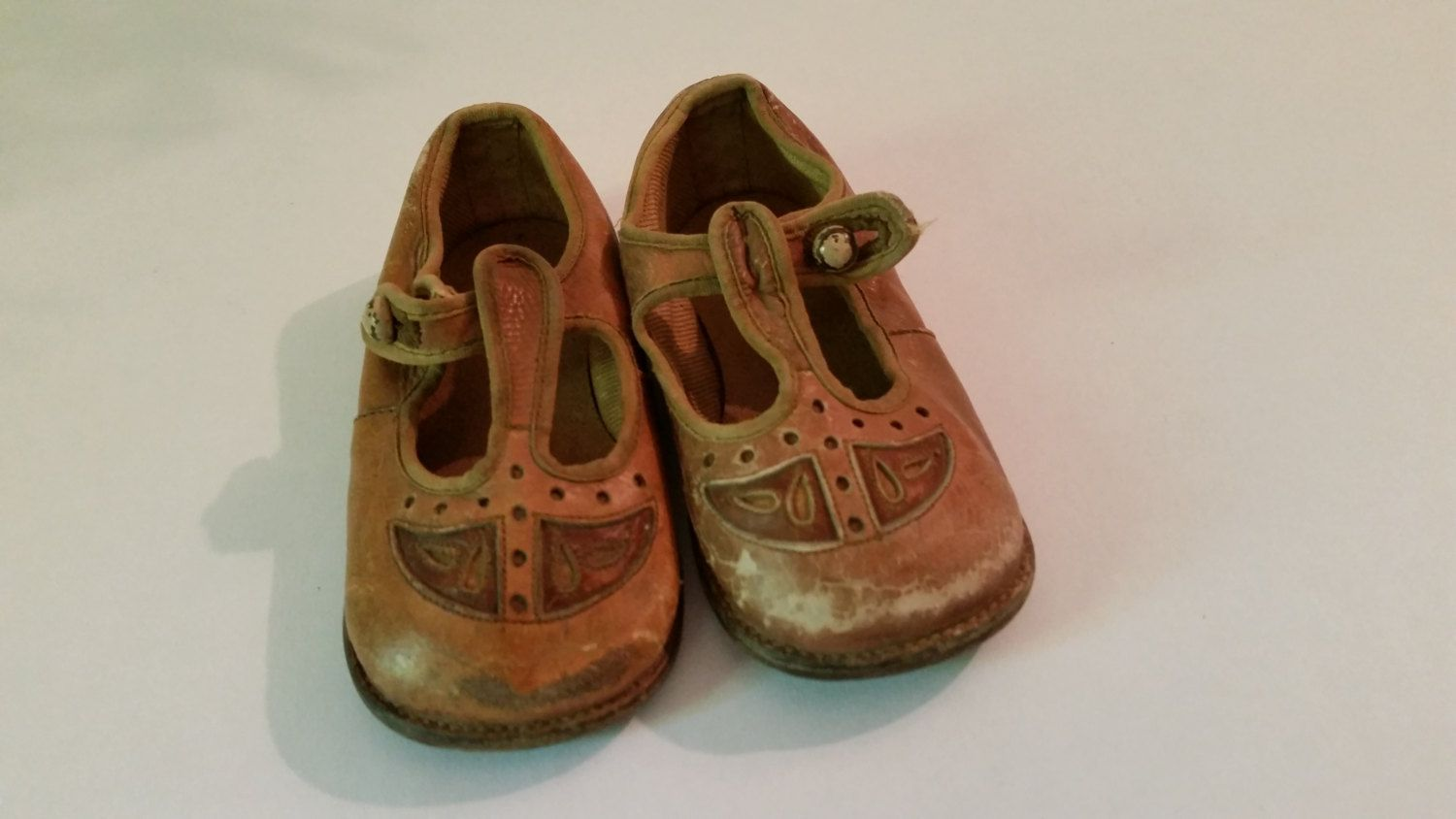 e11967893b5e1 1920's Children's Shoes Vintage Brown Leather Mary Jane Baby Shoes ...