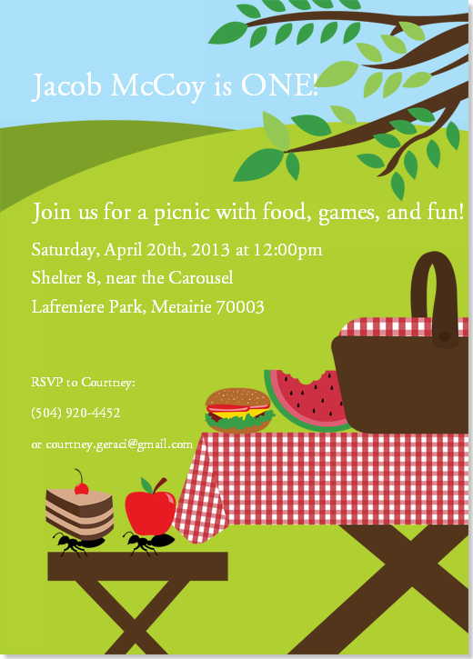 customize your card step 3 fun family picnic party invitation by my