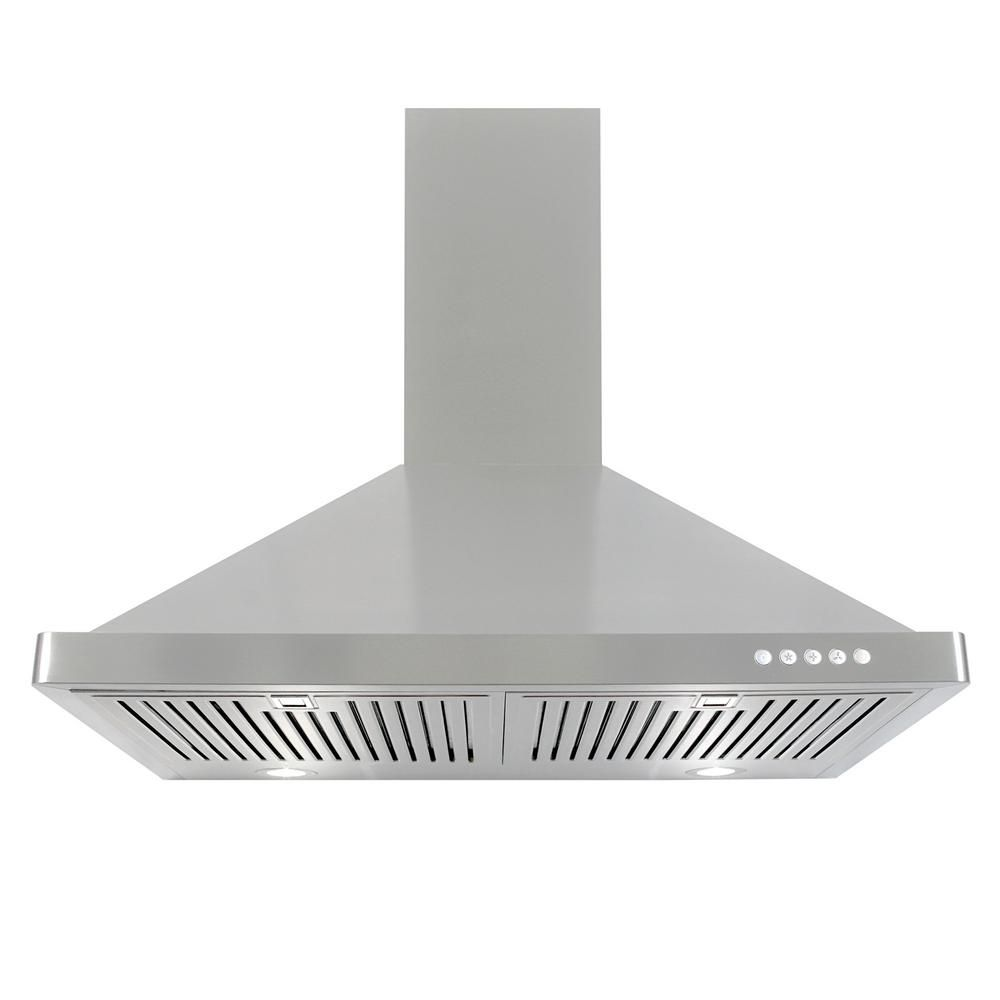 Cosmo 30 In Ducted Wall Mount Range Hood In Stainless Steel With Led Lighting And Permanent Filters Wall Mount Range Hood Range Hood Wall Mount