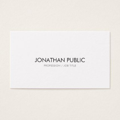 creative simple design modern elegant plain white business card