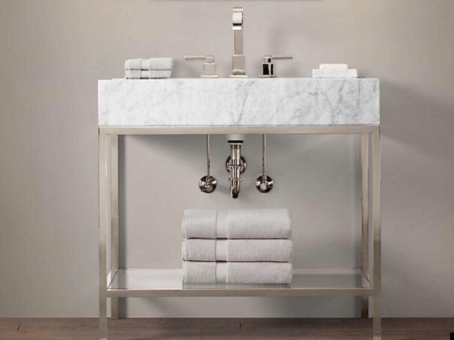 Bathroom Faucets Restoration Hardware rh hudson metal single washstand- in polished nickel with italian