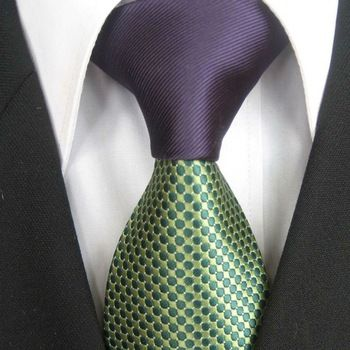 Coachella Men's ties 2013 New design Purple Knot Green Spots Dots Jacquard Necktie custom ties Cravat Formal Neck Tie for Men #fashion & #style