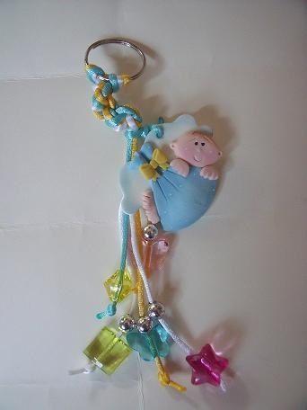 5b0e3c973 Llavero baby shower niño