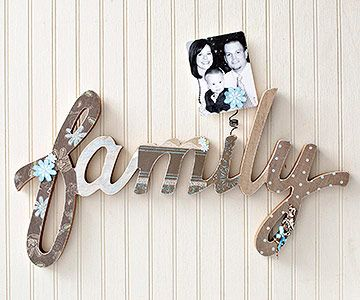 1 Hour Projects Wooden Words Decor Crafts Easy Home Decor