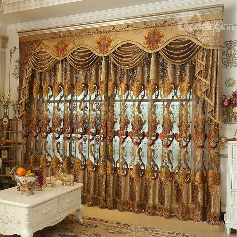 Decorative And Blackout High Quality Chenille Hollowed Out Luxury Living Room Curtain Colorfulcurtains Curtains Luxury Curtains Elegant Curtains