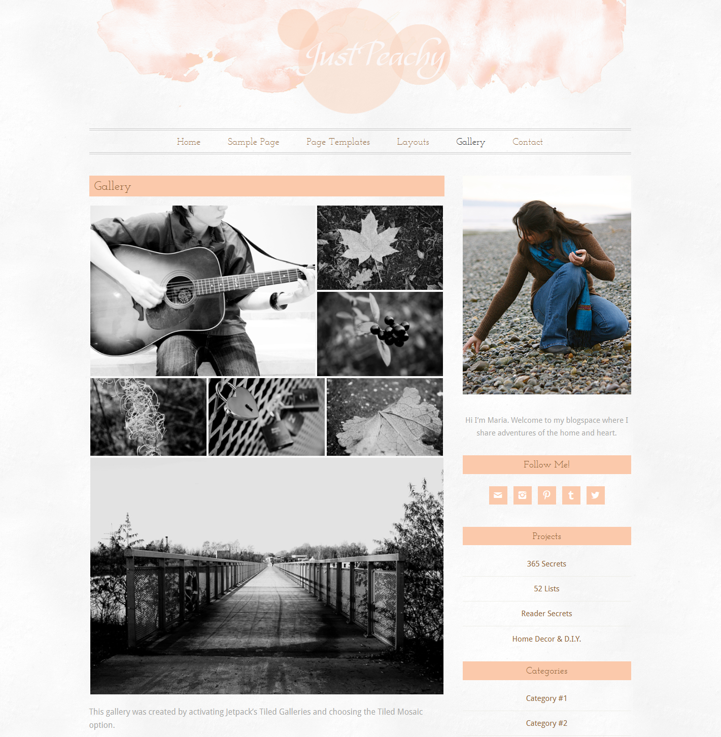 Beautiful clean watercolour responsive one, two or three column blog ...