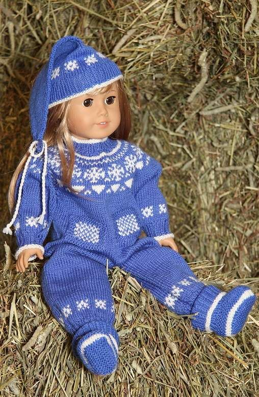 knitting patterns doll clothes | Puppen Strickkleidung | Pinterest ...