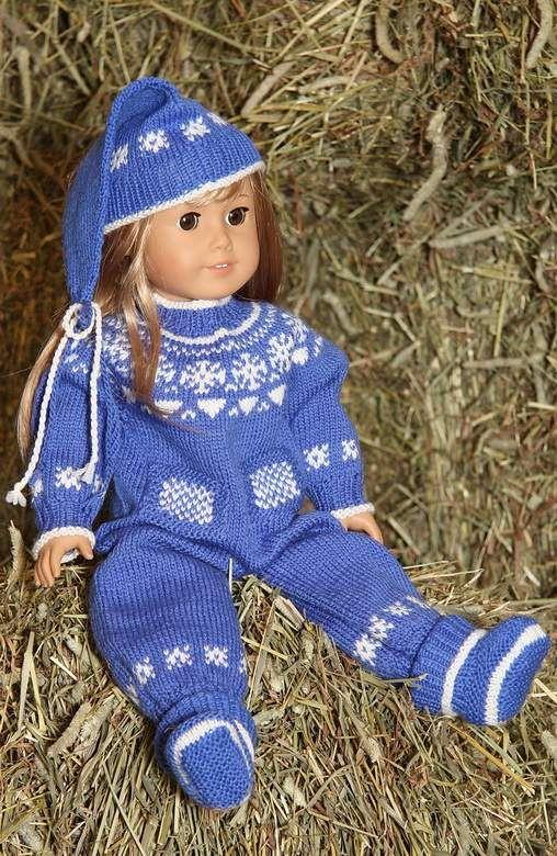 knitting patterns doll clothes | Puppen Strickkleidung | Pinterest ...
