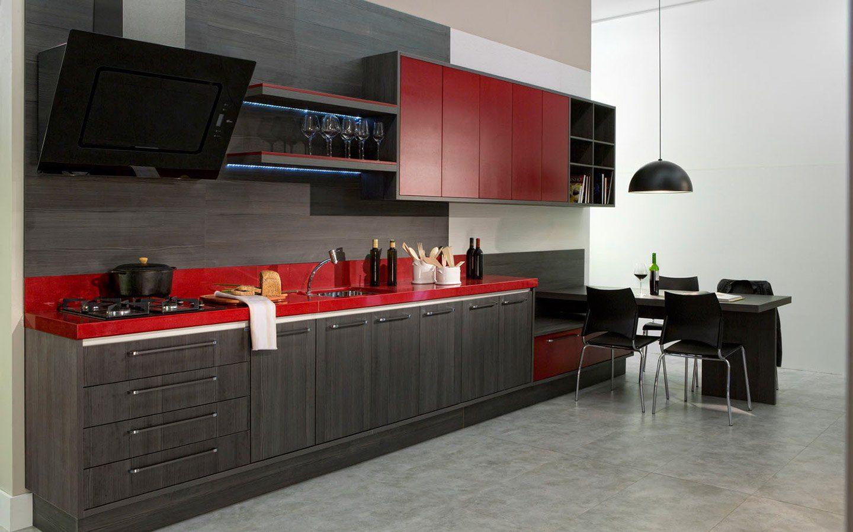 Ambiente Cinza E Magenta Pesquisa Google Cozinha Pinterest  ~ Cozinha Cinza Com Vermelho