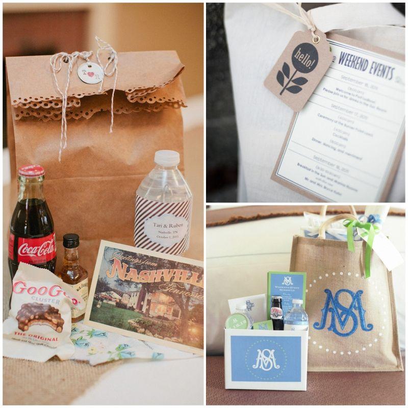 Wedding Wednesday} Welcome Bag Ideas | Weddings, Wedding and Favors