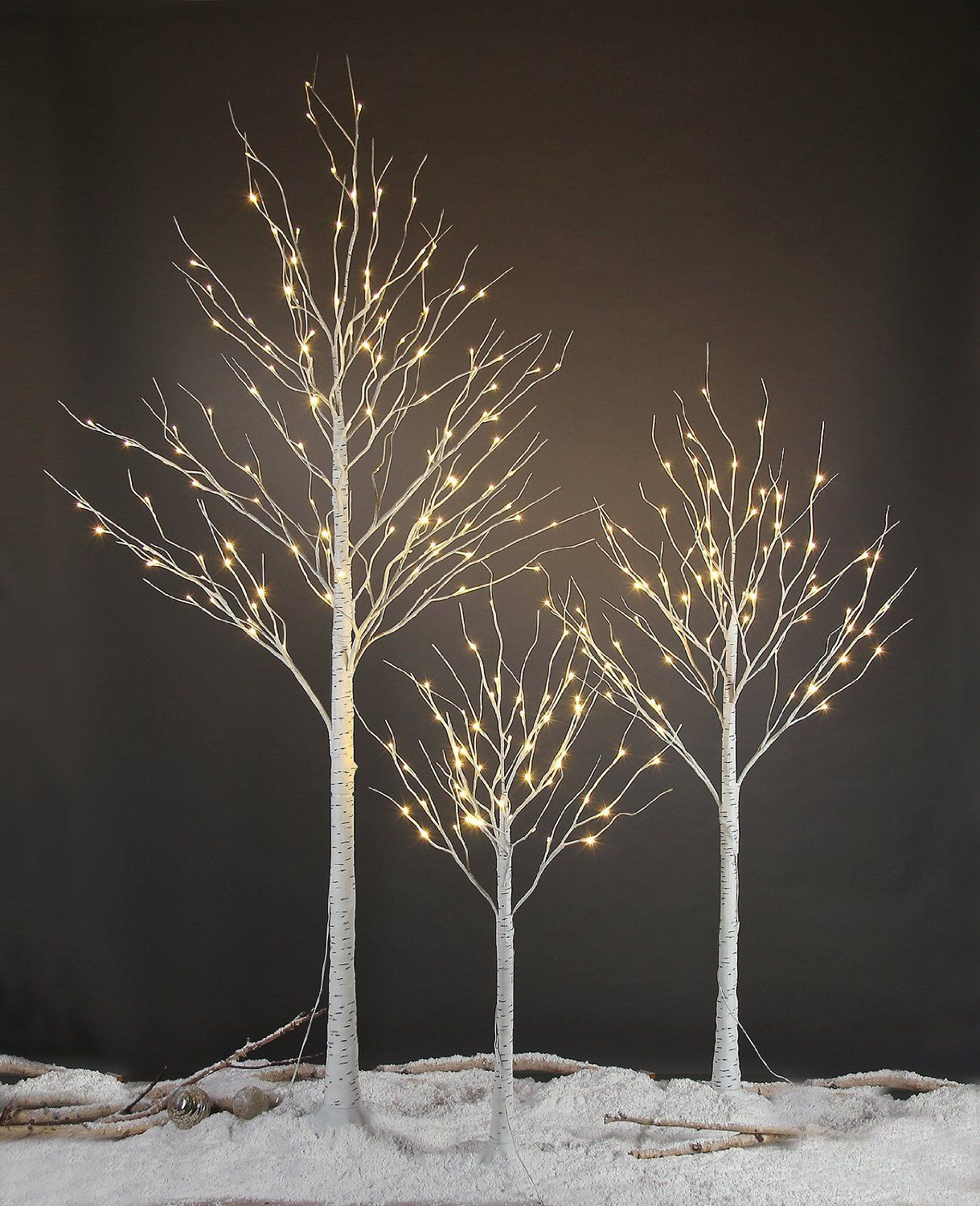 Amazon Com Lightshare Led Birch Tree 8 Feet Holiday