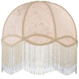 Fabric And Fringe Dome Replacement Shade Lampshades Amazon Com