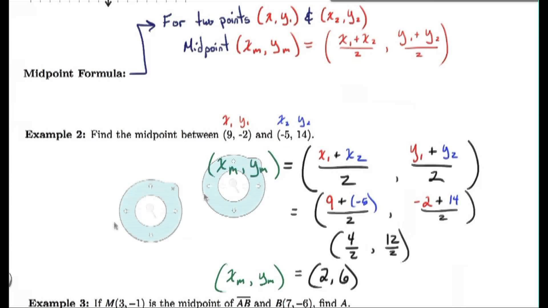 1 6 Video Notes Midpoints And Bisectors With Images