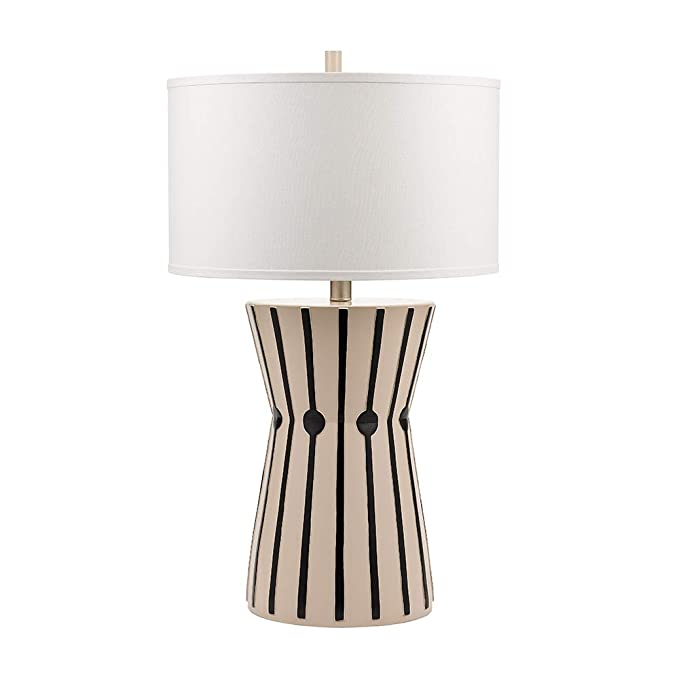 Amazon Com Catalina Lighting 20883 000 Rae Tribal Inspired Black And Whisper Pink Patterned Table Lamp With 3 Table Lamp Eclectic Table Lamps Cool Floor Lamps
