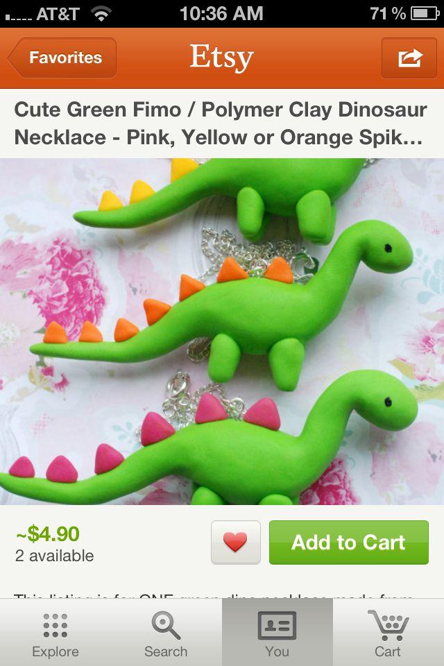 Dino clay things