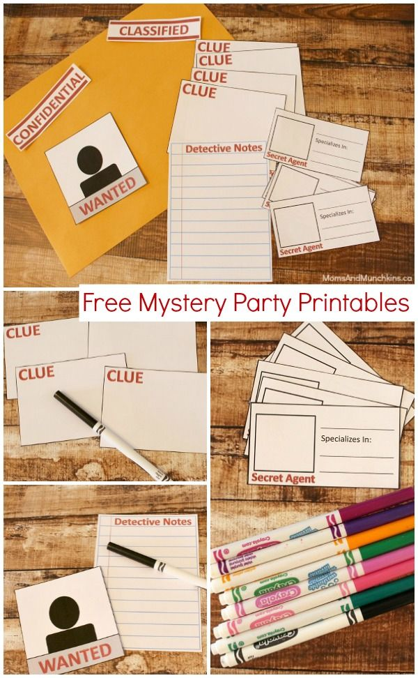 Mystery Party Printables Free Kids Party Ideas