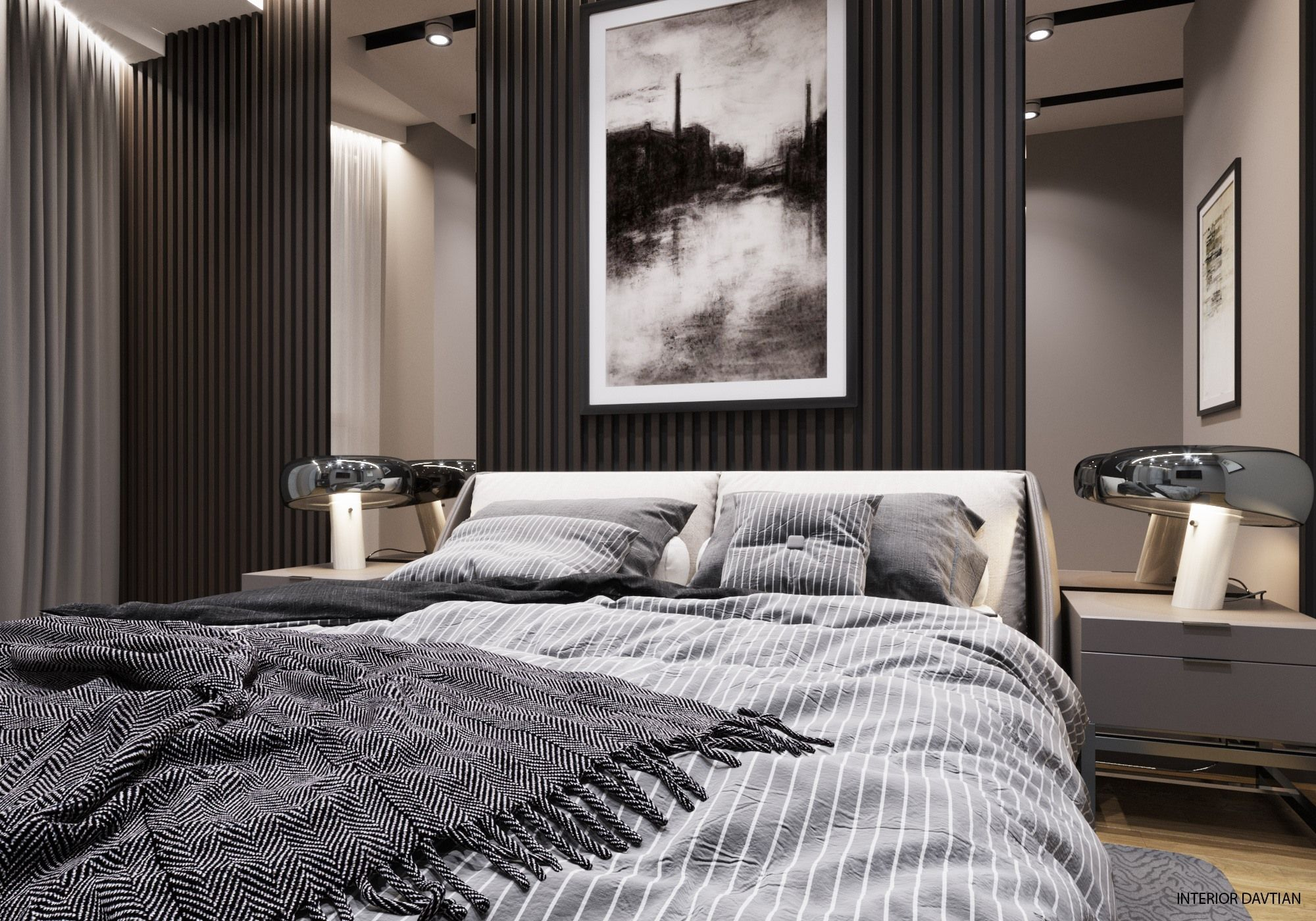 simple solid colored walls dark contrasting elements not on designers most used wall color id=58129