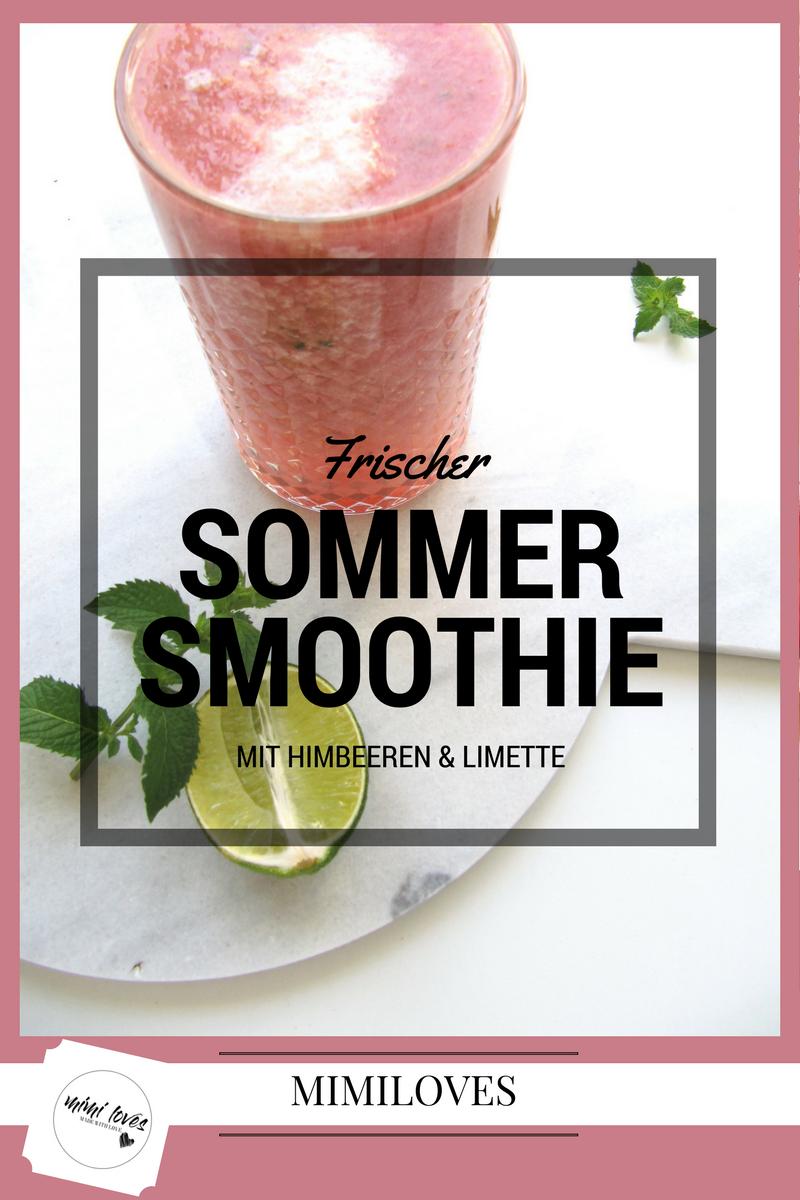 Frischer Sommer- Smoothie mit Himbeeren und Limette | REZEPT | mimiloves