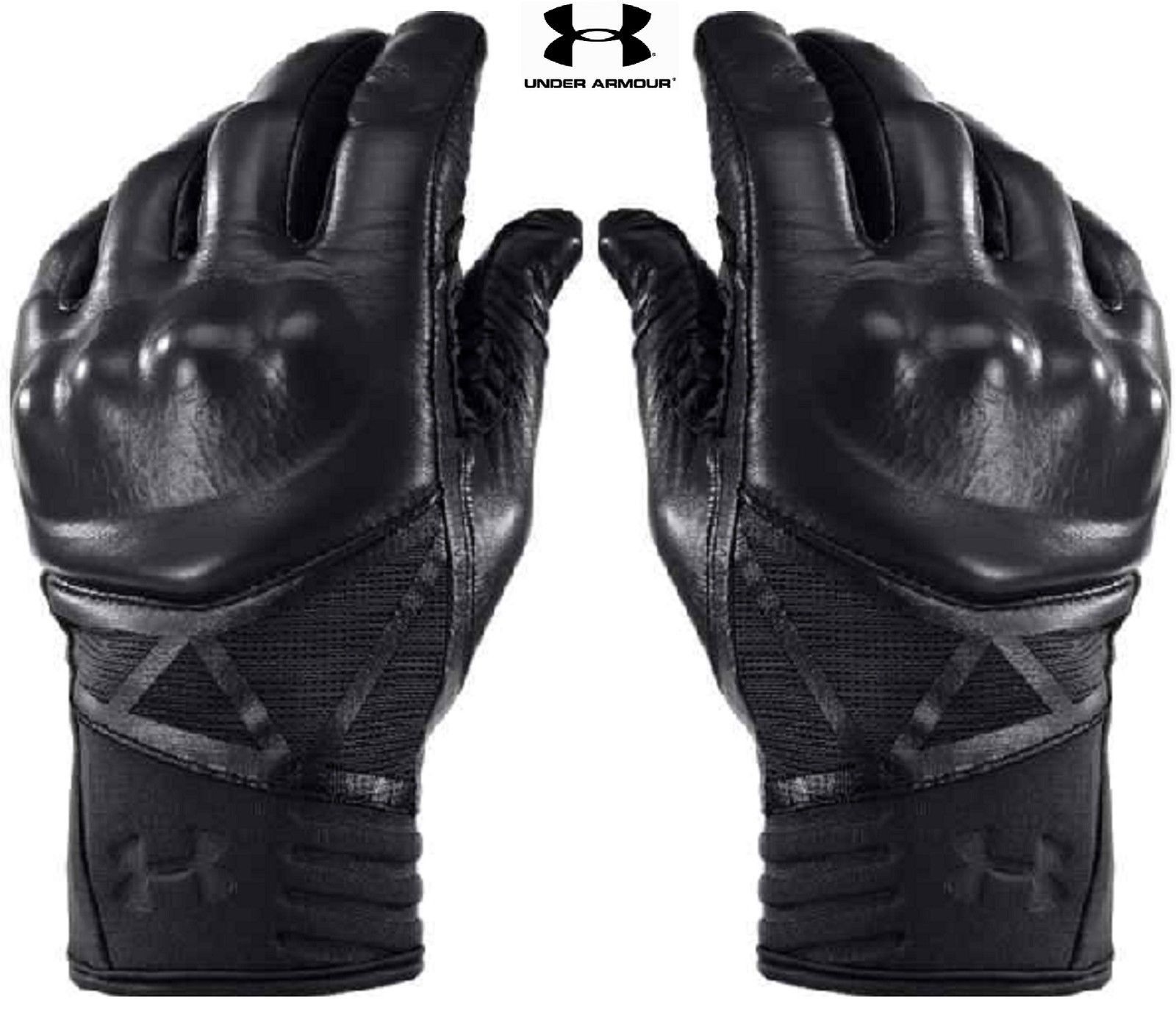 Diavolo leather motorcycle gloves - Black Under Armour Hard Knuckle Tactical Glove Ua Tac Performance Gloves