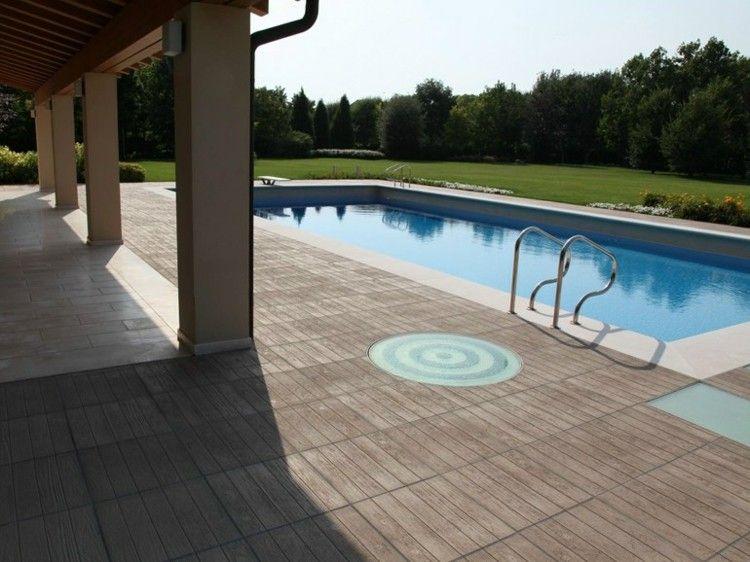 Terrasse Moderne Avec Piscine Et Carrelage Par Maspe