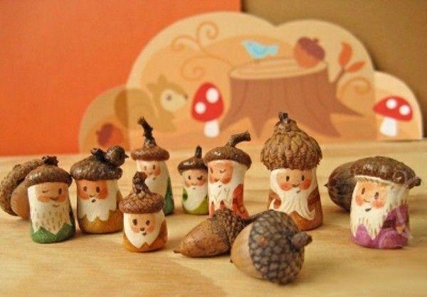 Basteln mit Eicheln - 70 einfache Ideen mit Anleitungen zum Nachmachen #weihnachtsbastelnnaturmaterialien