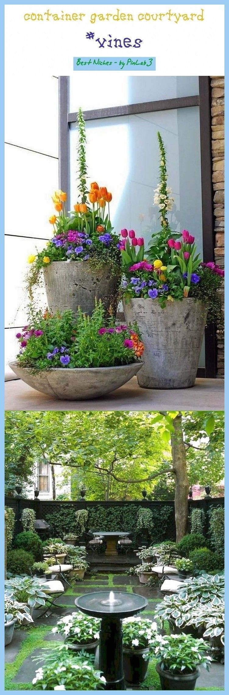 Photo of Container garden courtyard #container #garden #courtyard #container #garten … …