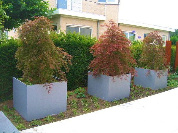 Zink containers by Guy wolfs | Outdoor - Voortuin inspiratie ...