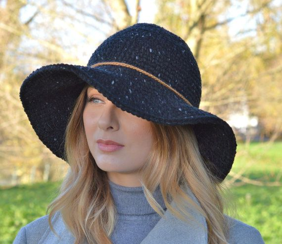 Patrón sombrero Floppy ala Victoria sombrero por Richmondhillknits ...