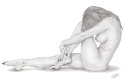 Drawings of naked females