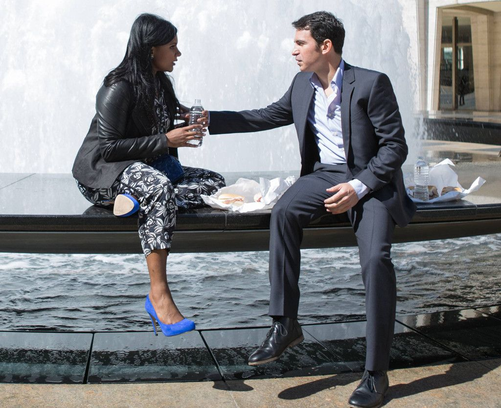Fountain Flirting from All of Mindy Kaling's Looks in The Mindy Project's Romantic Season 2 Finale | E! Online Also, Danny looks amazing