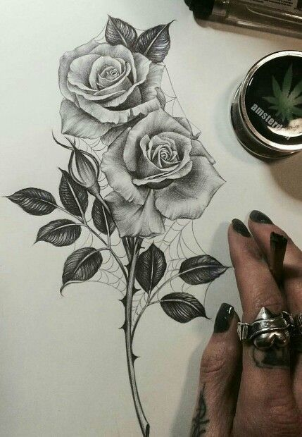 Realistic Single Rose Tattoo: Rose Tattoo With An Edge Will Be Amazing With Roots Coming