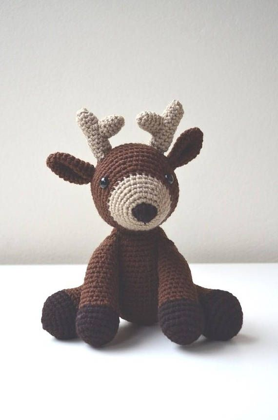 Deer Crochet Pattern -Dean the baby deer - PDF Crochet Pattern ...