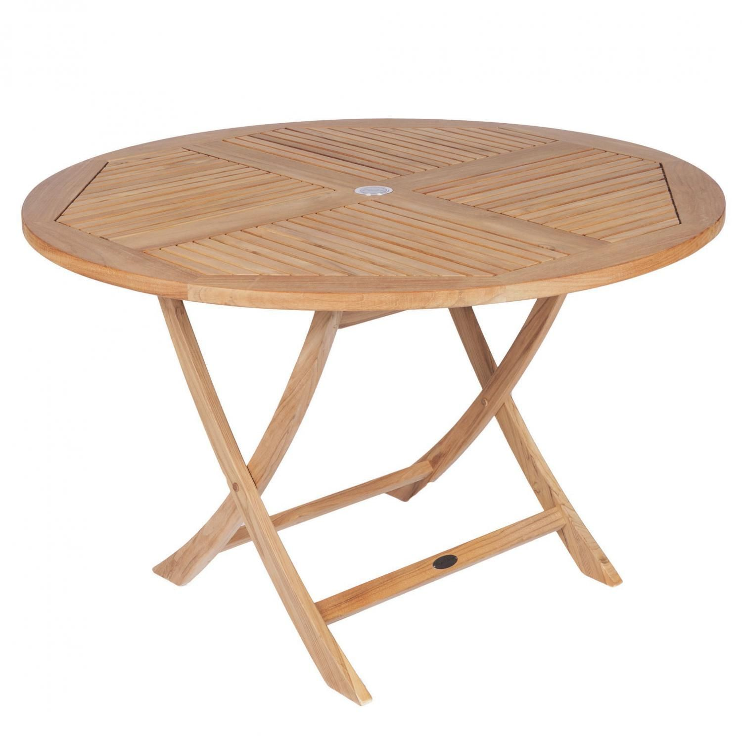 Royal Teak Collection Sailor 47 Inch Round Teak Folding Patio