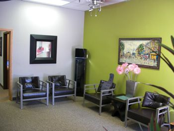 lime green accent wall chiropractic office tempe arizona
