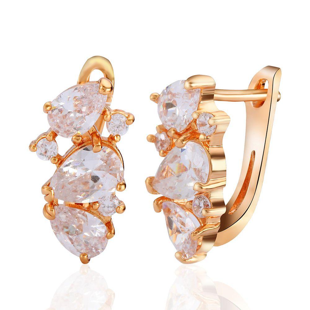1pairs Women Ladies Fashion Jewelry Zircon Crystal Rhinestones Ear Stud  Earrings