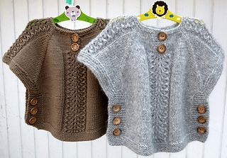 Ea's Poncho pattern by Flora Design | Baby patterns | Poncho