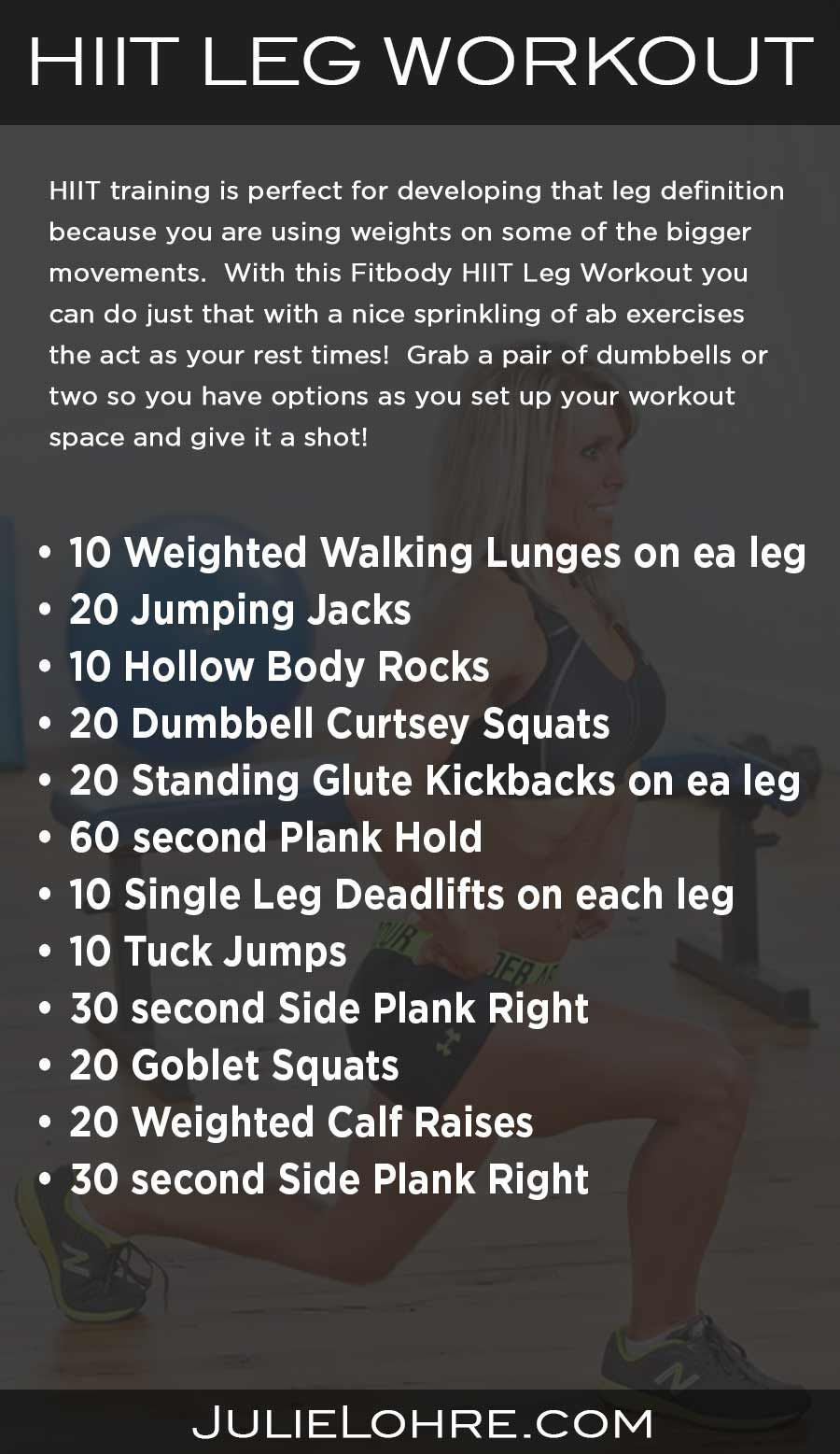 HIIT Workouts for Women | Hiit leg workout, Interval ...