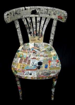 C mo decorar sillas con diarios viejos lazos organizar for Sillas para viejitos