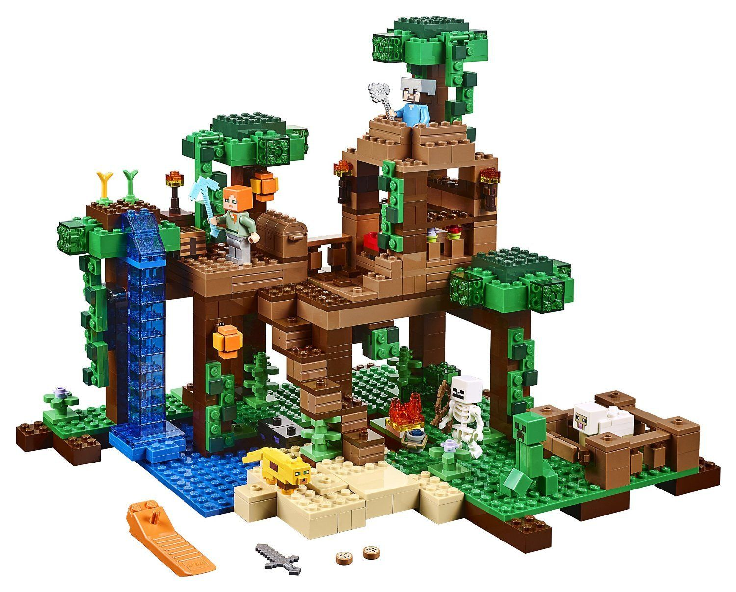 Minecraft The Jungle Tree House Jungle Tree Tree House Lego