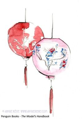 Chinese Lantern Drawings Chinese Drawings Lantern Drawing