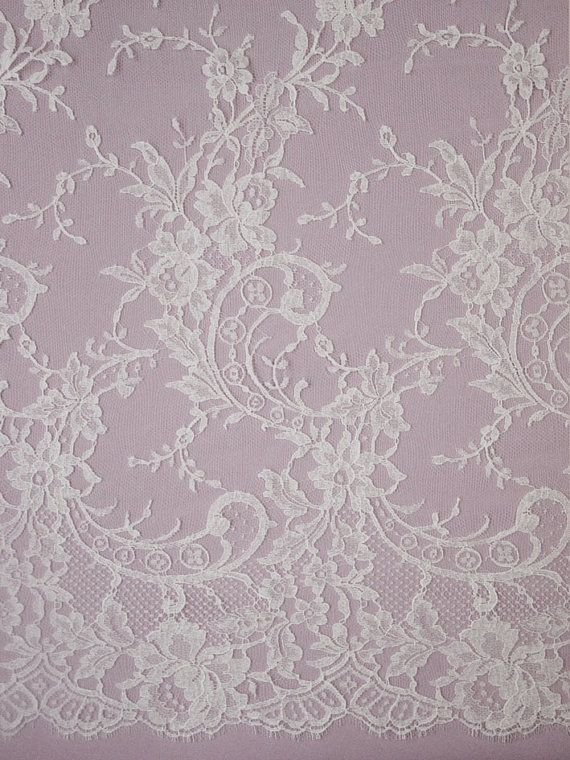 French Chantilly lace  Olivia  ivory or by MorganBridalSupplies