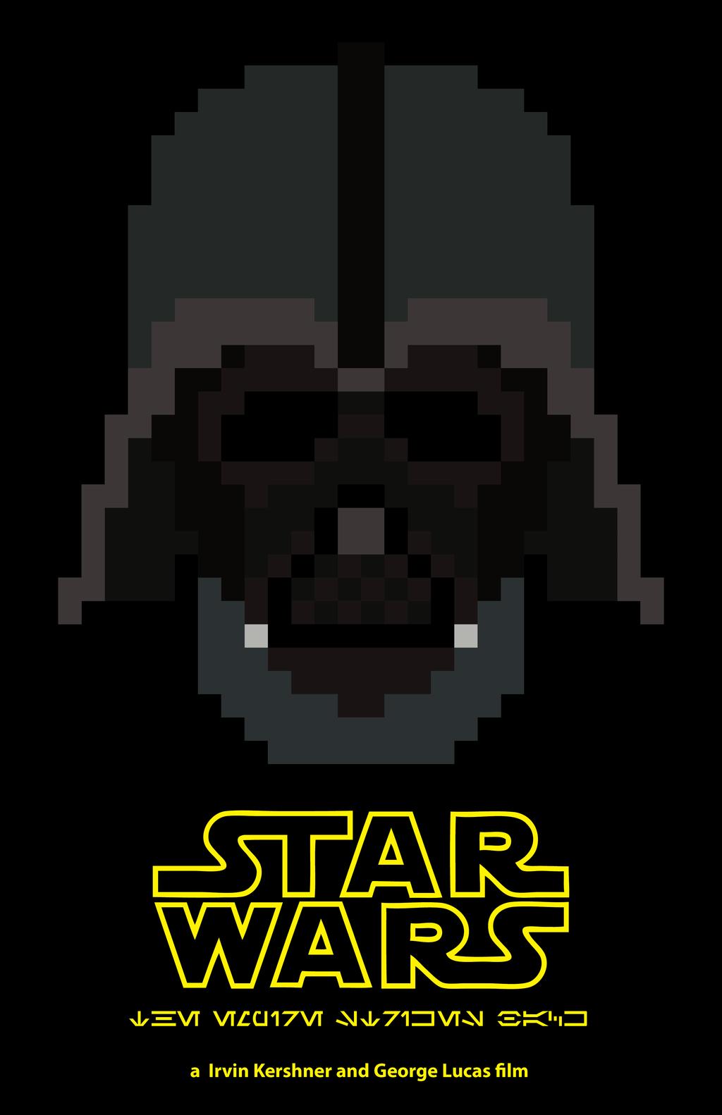 8 Bit Star Wars The Empire Strikes Back Poster Star Wars Empire Strike Movie Poster Project