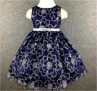 Vestido de festa infantil azul roya