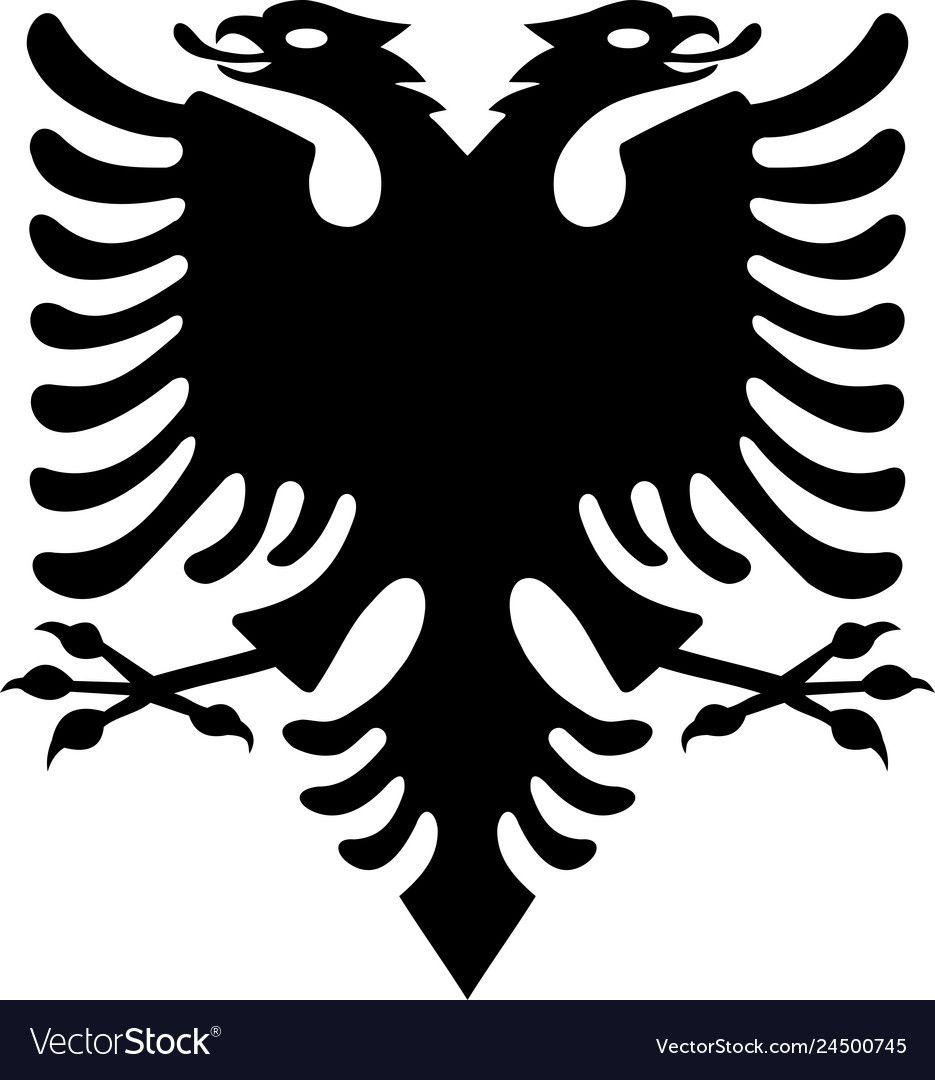 Black Albanian Eagle From The Flag Of Albania Albanian Flag Eagle Vector Illustration Download A Free Preview Or Hi In 2020 Albanian Flag Albanian Eagle Flag Drawing
