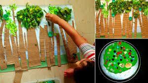 Resultado de imagen para cuadros de arboles con material reciclado