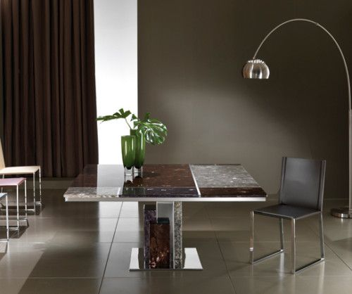 Stone& Glass Top Dining Table Lavamar Crystal Stone Mondrian Inspiration Stone Top Dining Room Tables Review