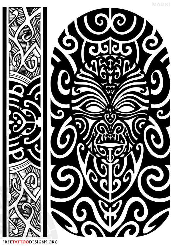 maori tattoo design face and armband pinterest. Black Bedroom Furniture Sets. Home Design Ideas