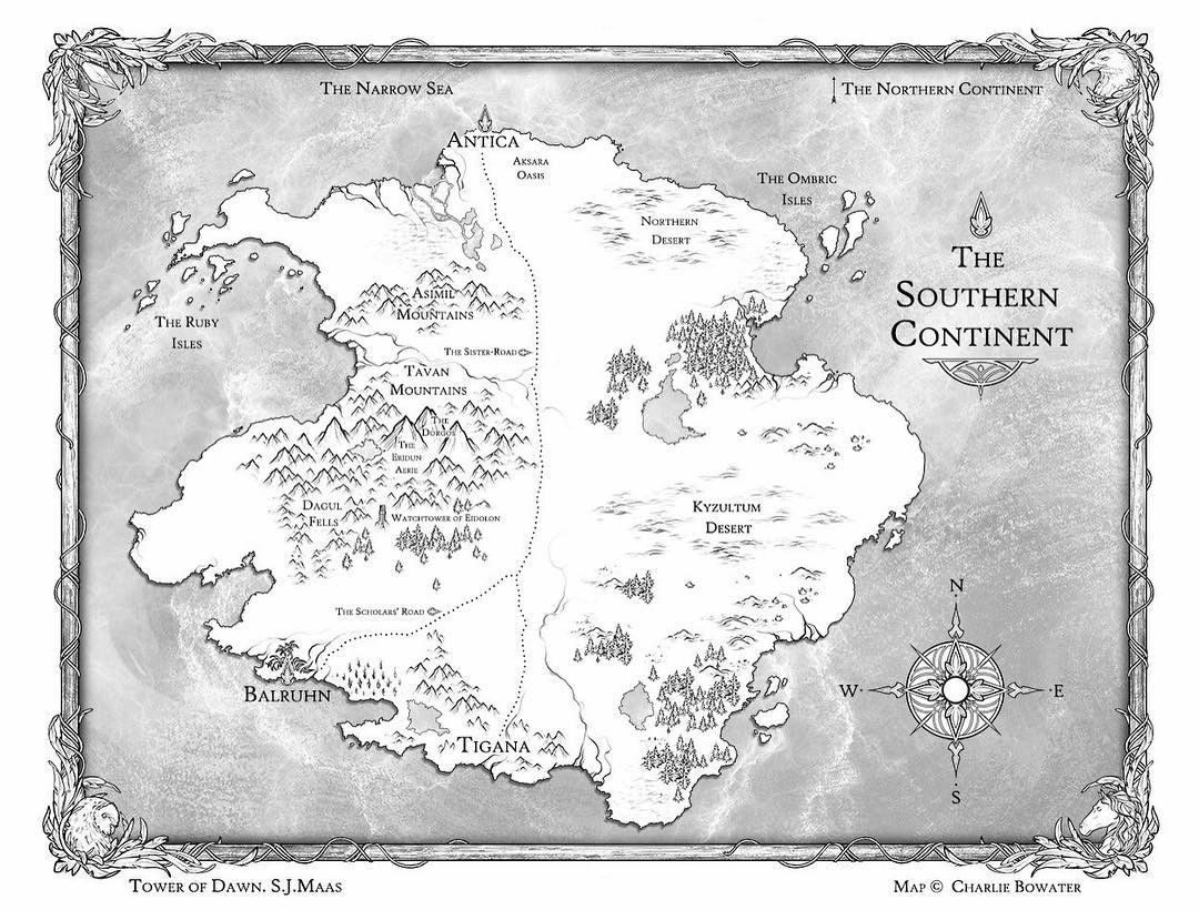 As If The Map Of Erilea Throne Of Glass By Sarah J Maas